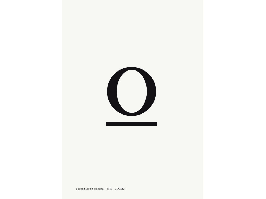 Claude Closky, 'O', 1989, laser print on paper, 29,7 x 21 cm.