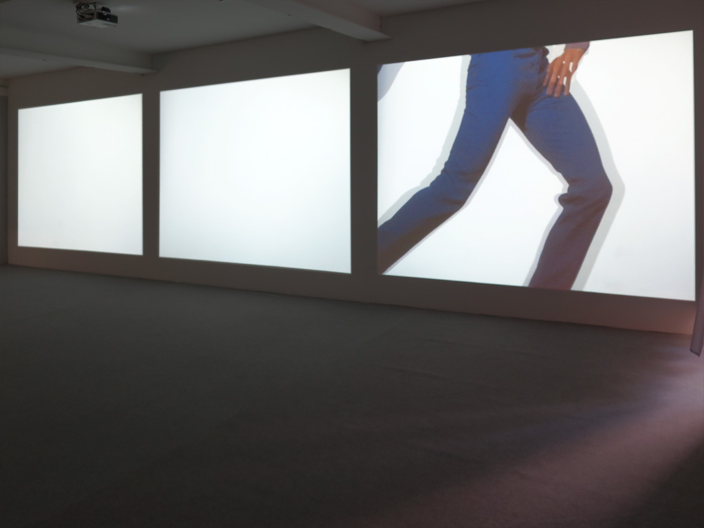 Claude Closky, 'O-B-P (Objects Bags People),' 1997-1998, video installation, 3 desynchronized projections, stereo, variable dimensions, unlimited duration.