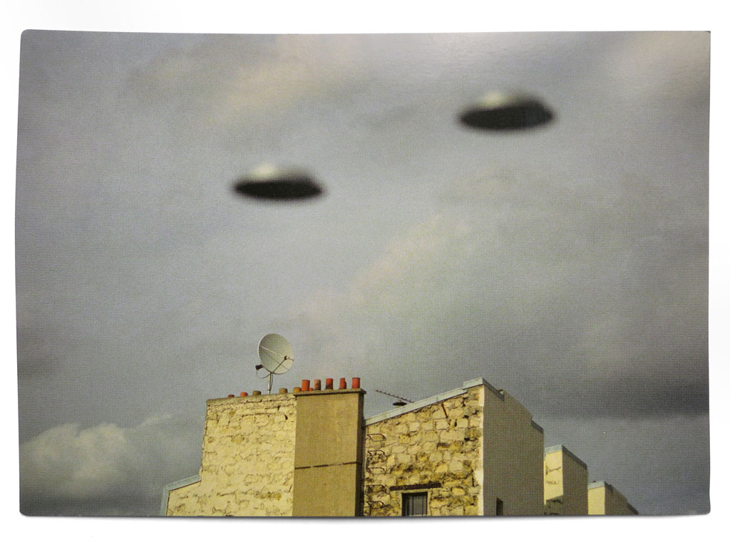 Claude Closky, 'Flying Saucers', 1999, Tokyo: Points de suspension. Postcard, color offset, 10,5 x 15 cm.