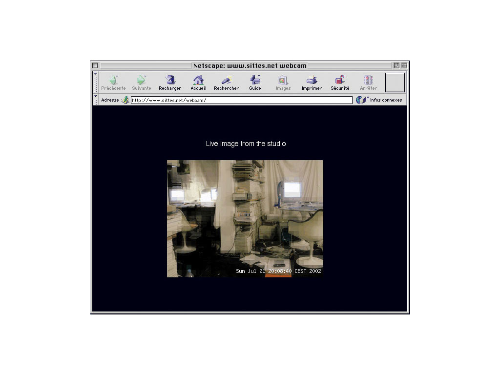 Claude Closky, Webcam, 2001