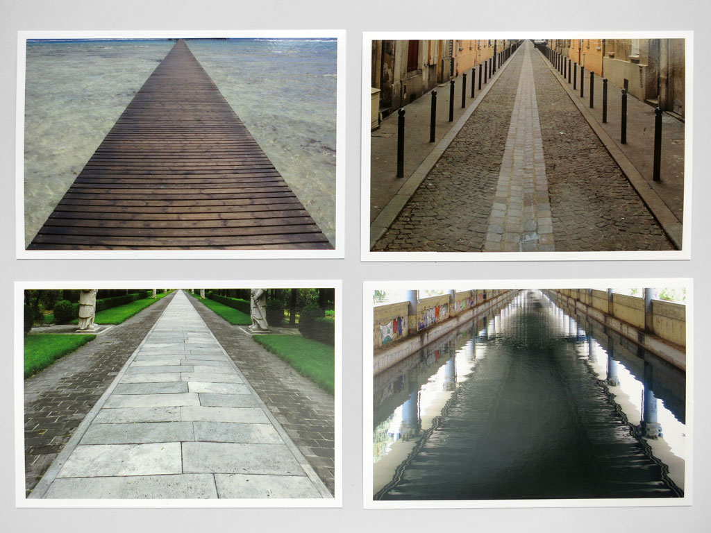 Claude Closky, 'Inside a Triangle  (Marsa Alam, Egypt, Paris, France, Beijing, China, Metamorfosi, Greece)', 2011, Paris: La Poste. 4 postcards, offset print, 10,5 x 15 cm each.