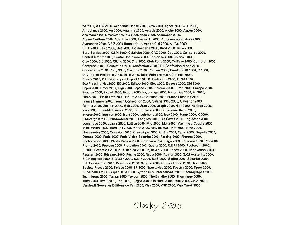 Claude Closky, 'Closky 2000', 1992, ballpoint pen on bromide print, 30 x 24 cm.