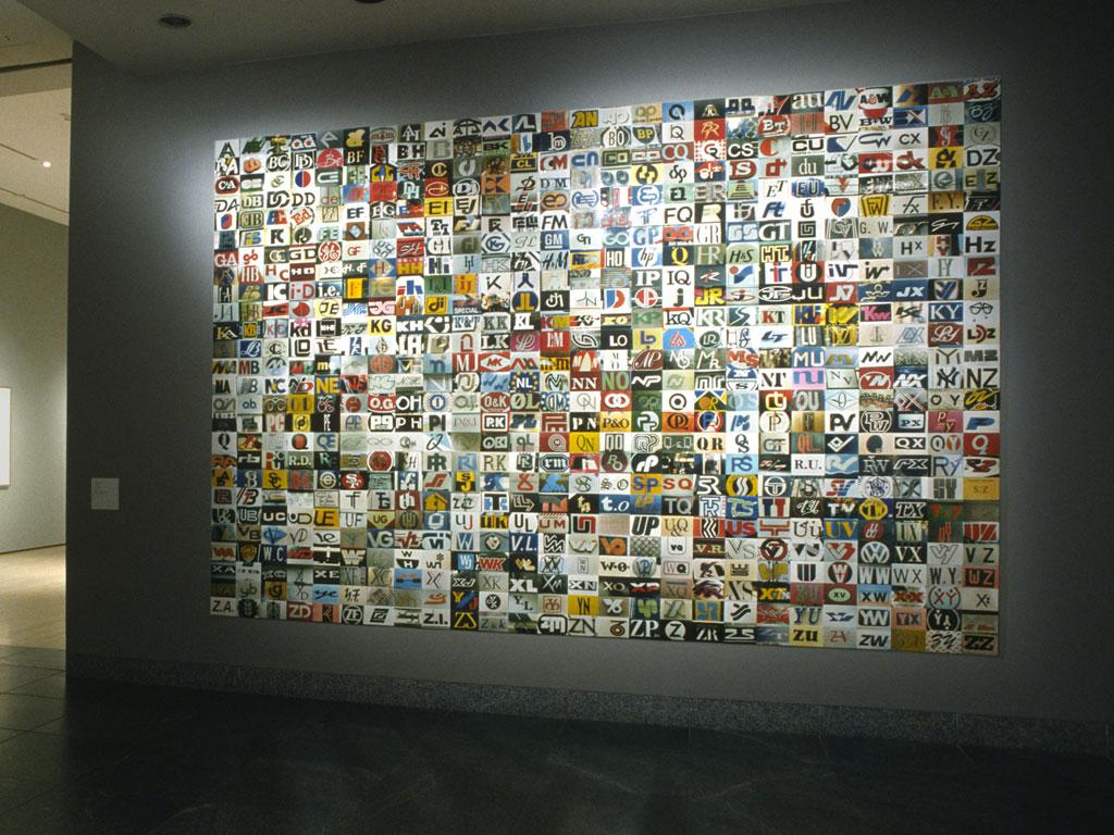 Claude Closky, 'AA, AB', 1993, c-prints, 285 x 415 cm (676 prints 10 x 15 cm). 'Regards croisés', Musée d'art contemporain de Montréal, Montréal. 7 November 2001 - 31 March 2002. Curators: Josée Béliste, Jean-François Taddei