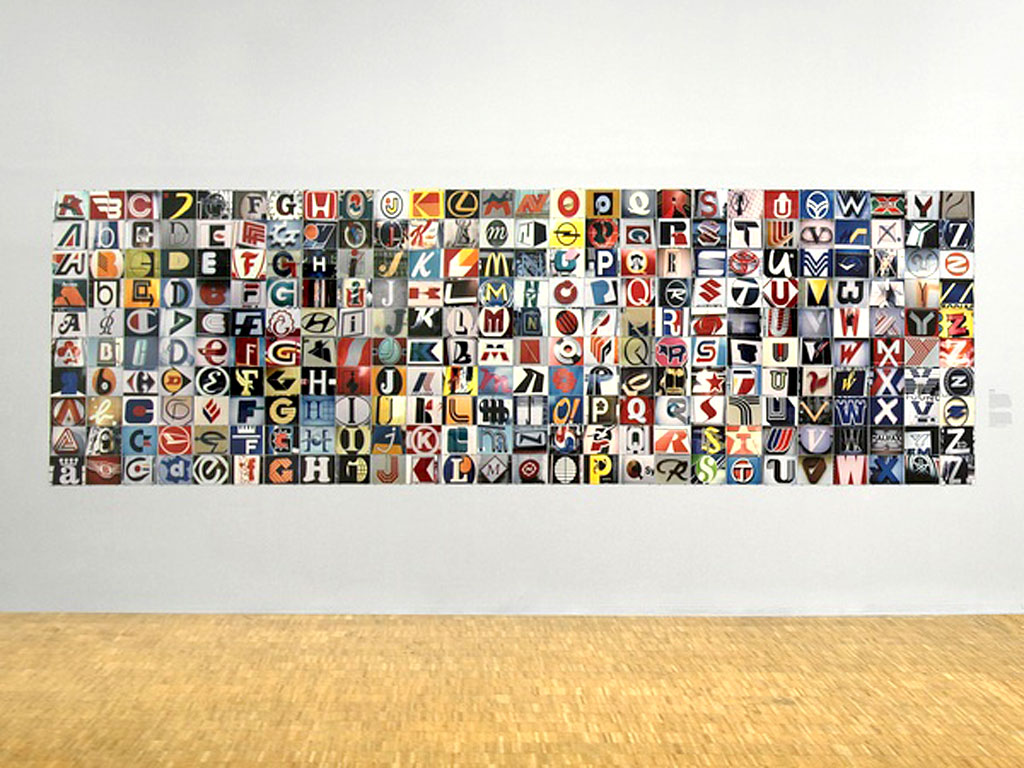 Claude Closky, 'Auchan', 1992, c-print, 170 x 650 cm (260 prints 16 x 24 cm). 'Les Peintres de la vie moderne, Donation - Collection photographique de la Caisse des Dépôts', Centre Pompidou, Paris. 27 September - 27 November 2006. Curator Francis Lacloche