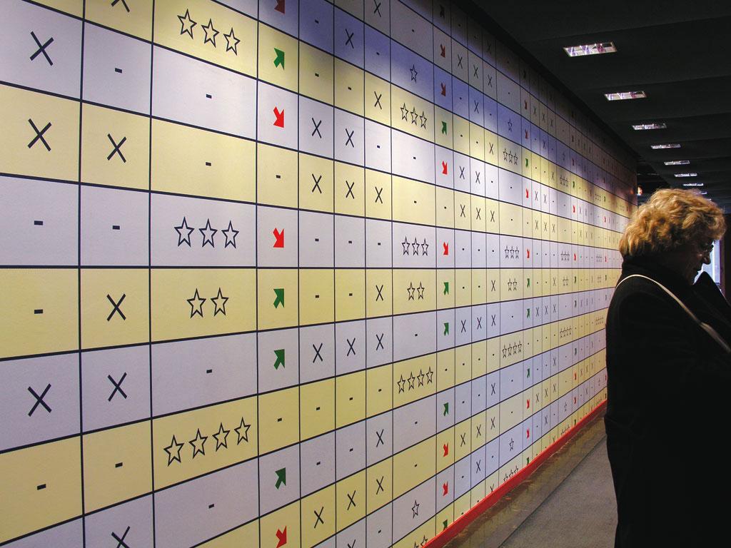 Claude Closky, 'Up & Down', 2004, wallpaper, four color silkscreen, Centre Pompidou offices, Paris. Architecte: Frédéric Druot..