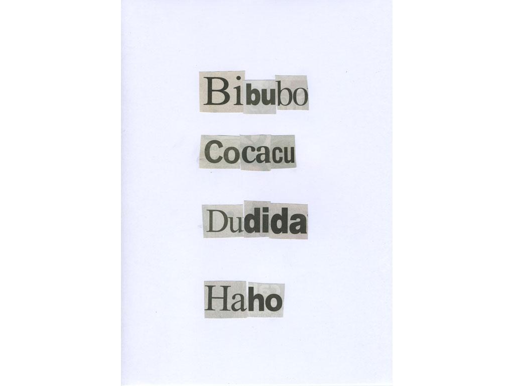 Claude Closky, 'Bidi', 2010, collage on paper, diptyque, twice 30 x 21 cm.
