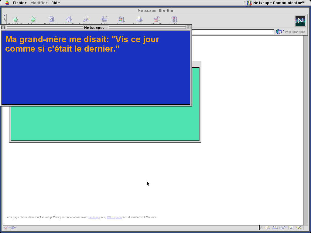 Claude Closky, 'Bla-bla (website)', 1998, Html, Javascript (http://www.sittes.net/blabla).