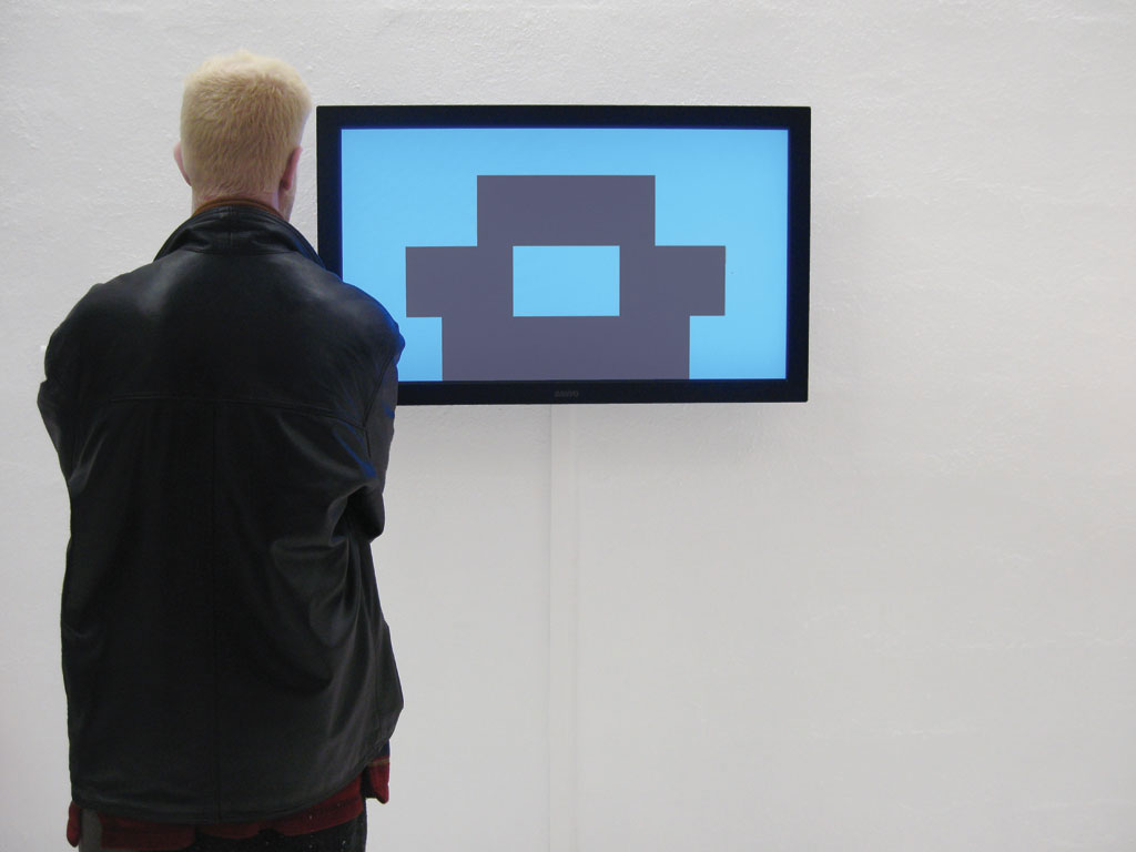 Claude Closky, 'Construction', 2009, flat screen, computer, 1280 x 720 px image, unlimited duration. Exhibition view '(İstanbul) Transit-Topos', Akbank Sanat, Istanbul. 26 May - 3 July 2010. Curated by Ali Akay.