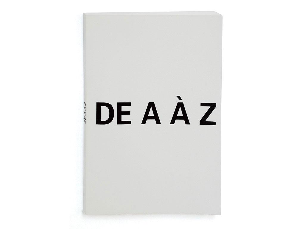 Claude Closky, 'De A à Z [from A to Z]', 1992, Paris: Galerie Jennifer Flay, 16 pages with flaps, 21 x 60 cm open, 21 x 15 closed.