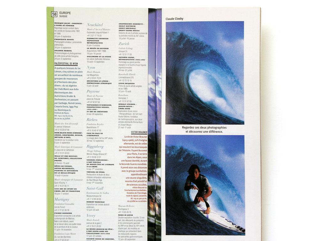 Claude Closky, 'Découvrez une différence [Find a Difference]', 1999, July. Paris: Beaux Arts magazine no. 182, summer show off-print, p. 59.