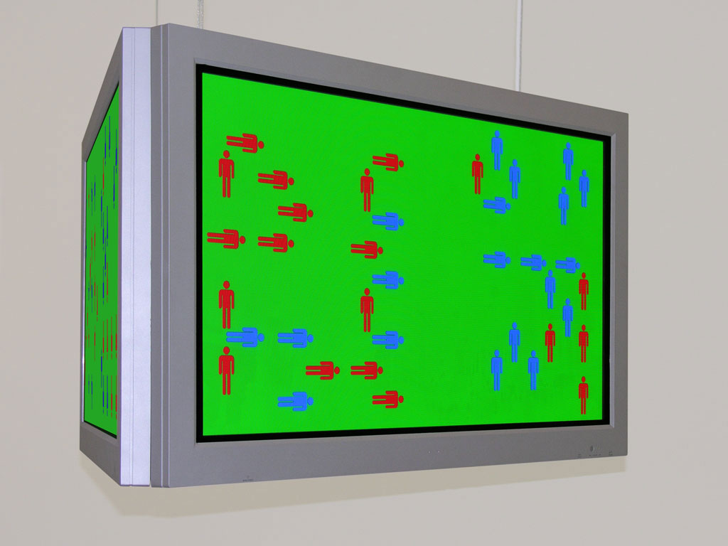 Claude Closky, 'Divisions', 2005, 3 flat 16/9 screen, 3 computers, silent, dimensions variable, unlimited duration.