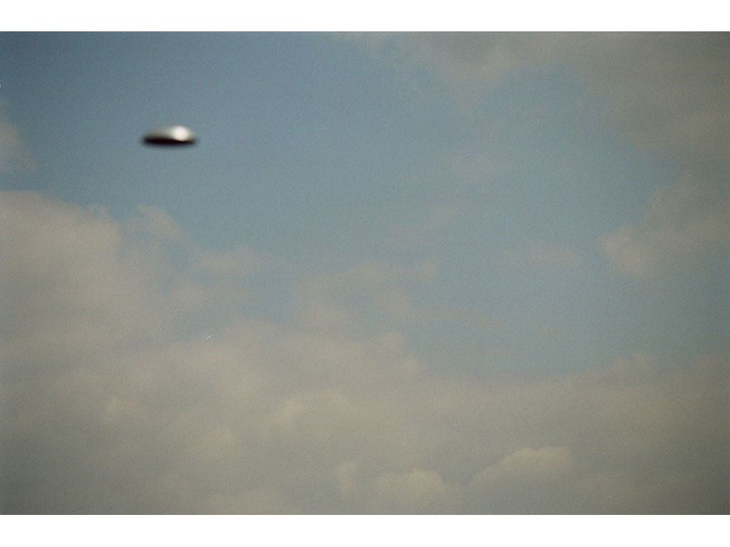 Claude Closky, 'Flying saucer, Above Vitry n°1', 2005, c-print, 20 x 30 cm.