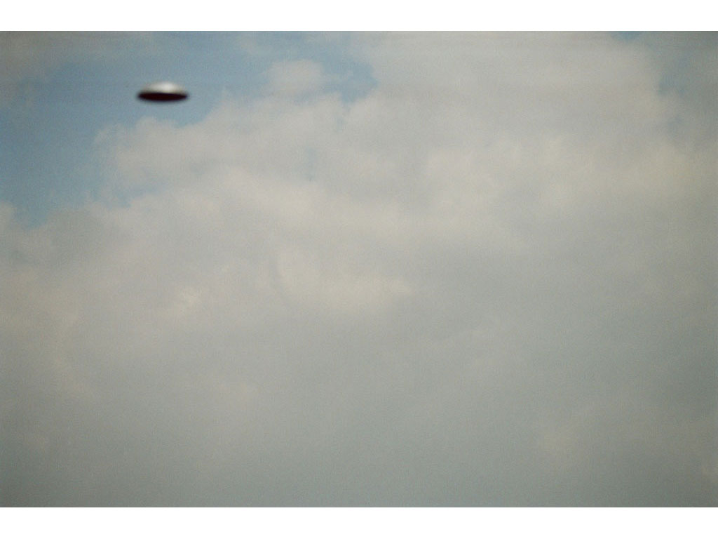 Claude Closky, 'Flying saucer, Above Vitry n°2', 2005, c-print, 20 x 30 cm.