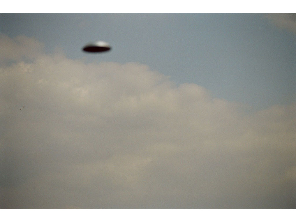 Claude Closky, 'Flying saucer, Above Vitry n°3', 2005, c-print, 20 x 30 cm.