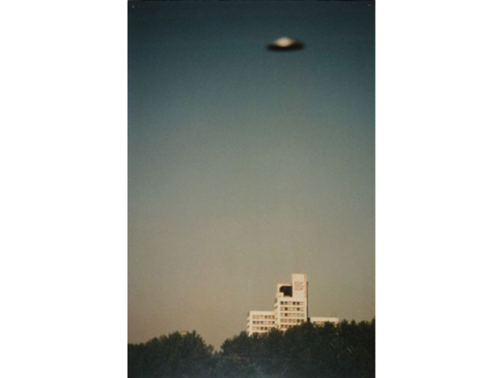Claude Closky, 'Flying Saucer, EDF-GDF (2)', 1996, c-print, 30 x 20 cm.