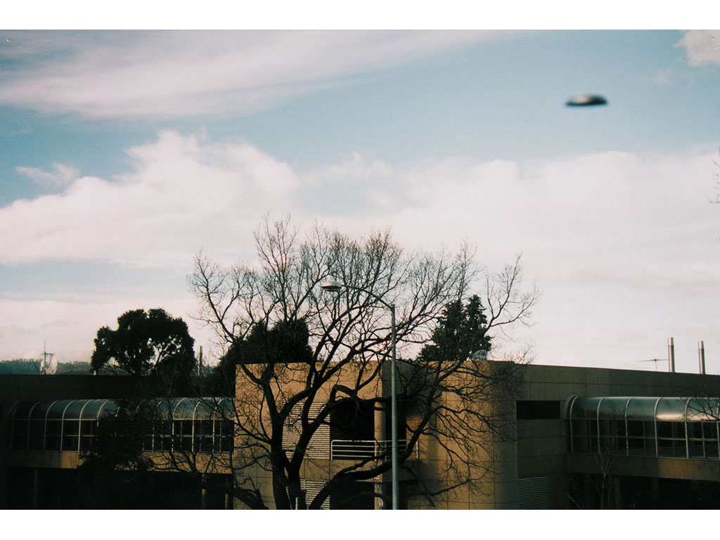Claude Closky, 'Flying Saucer, Hobart (1)', 1996, c-print, 20 x 30 cm.