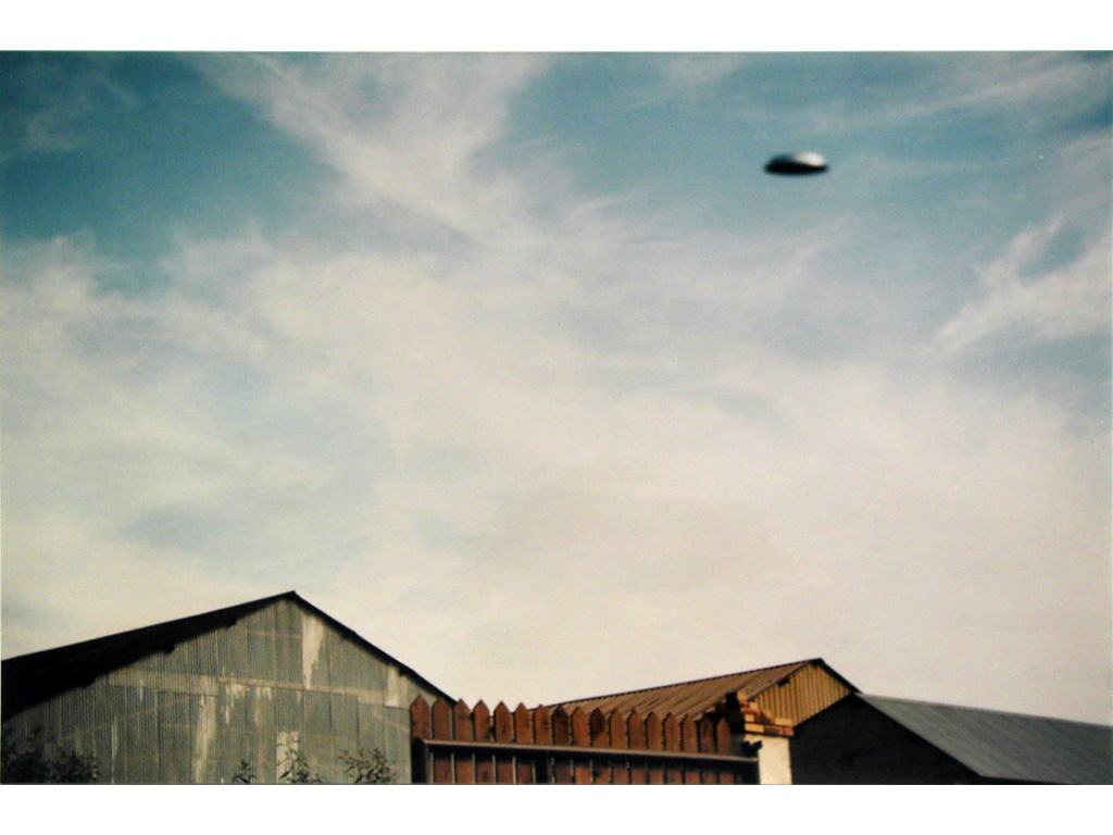 Claude Closky, 'Flying saucer, La Brosse (7)', 1996, c-print, 20 x 30 cm.