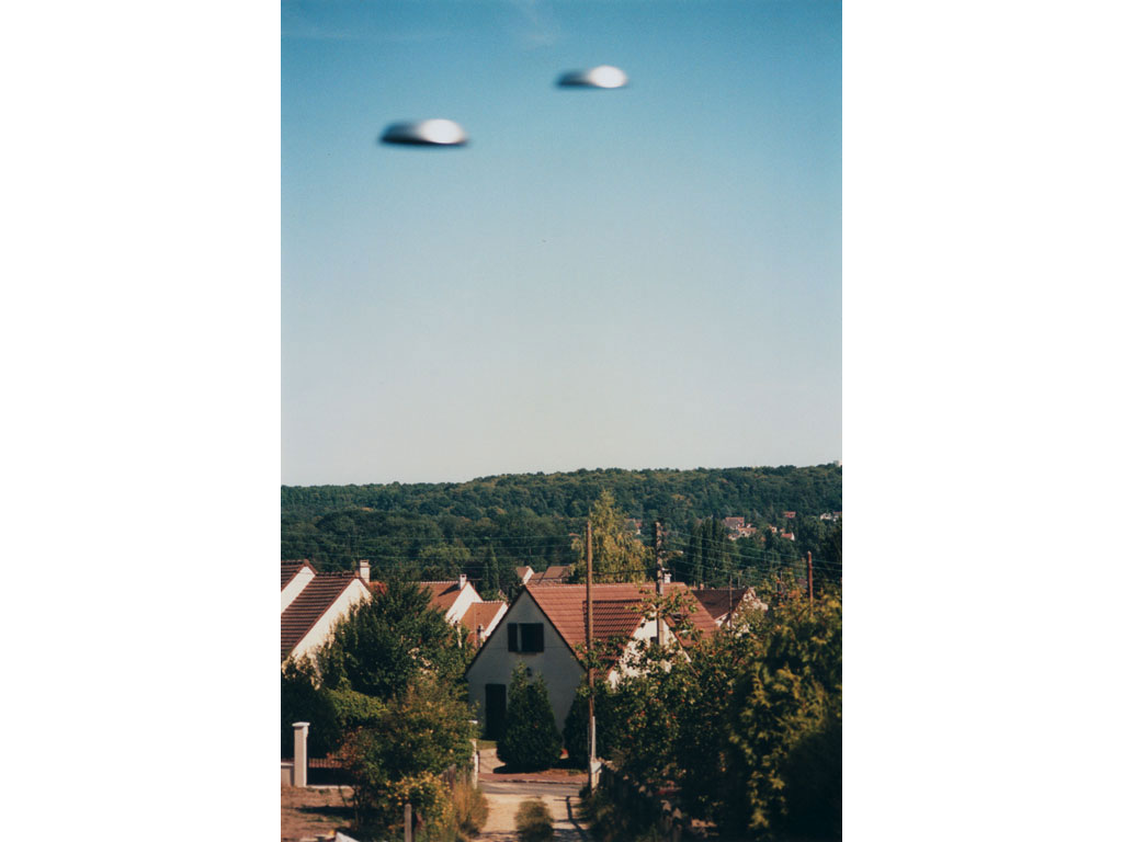 Claude Closky, 'Flying Saucers, Bures-sur-Yvette (2)', 1996, c-print, 30 x 20 cm.