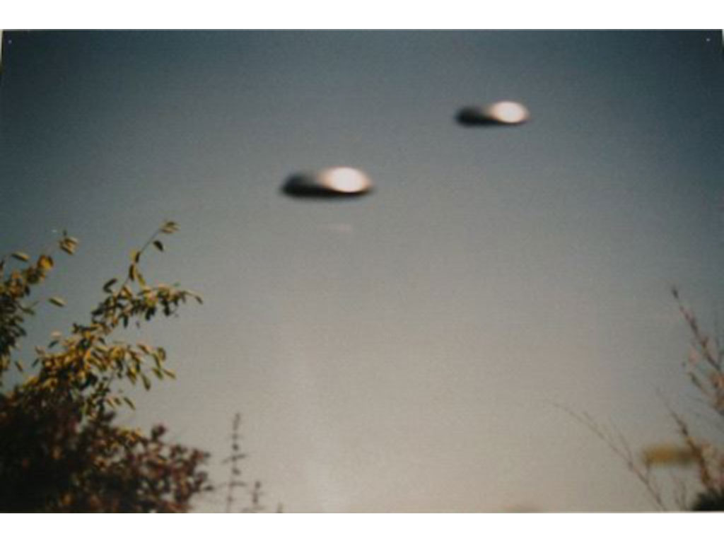 Claude Closky, 'Flying Saucers, Bures-sur-Yvette (5)', 1996, c-print, 20 x 30 cm.