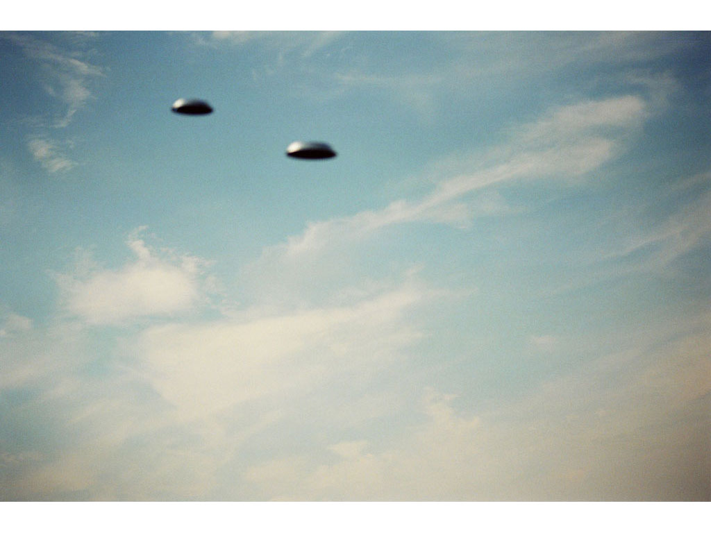 Claude Closky, 'Flying Saucers, Le Mesnil-St-Denis (6)', 1996, c-print, 20 x 30 cm.