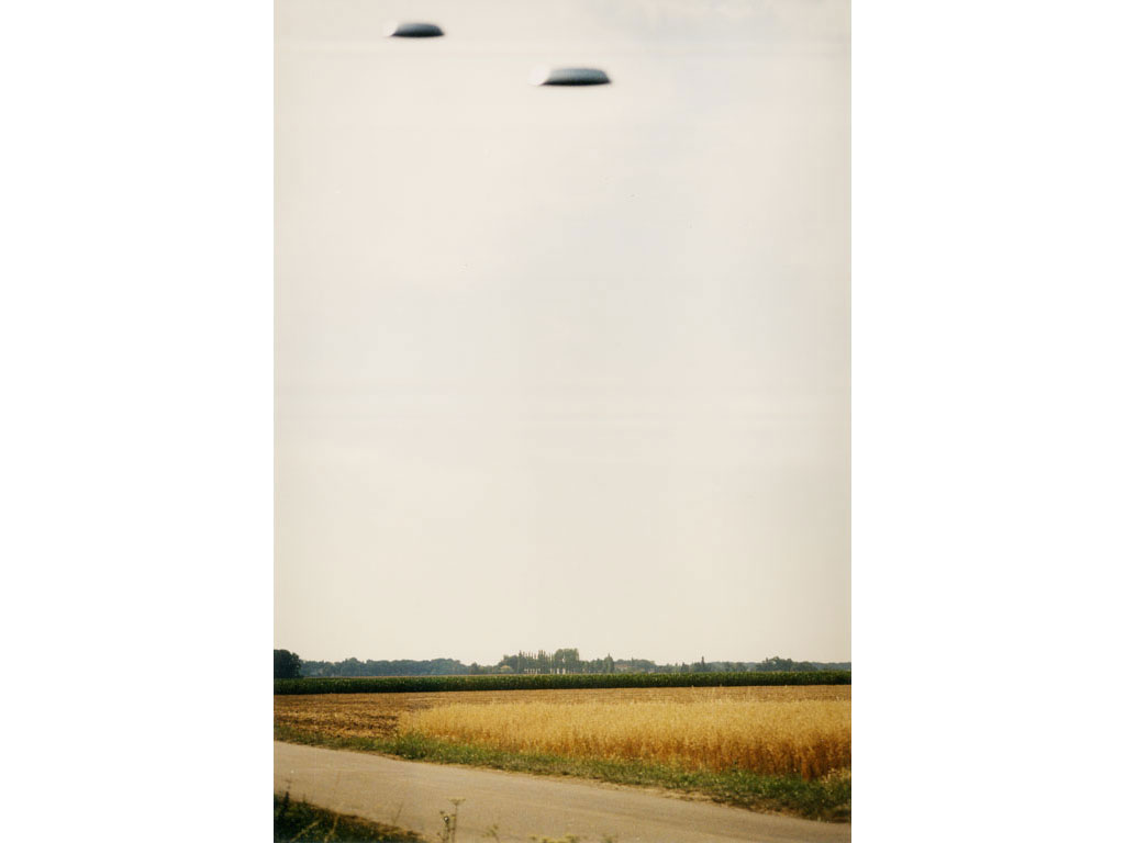 Claude Closky, 'Flying Saucers, Le Mesnil-St-Denis (7)', 1996, c-print, 30 x 20 cm.