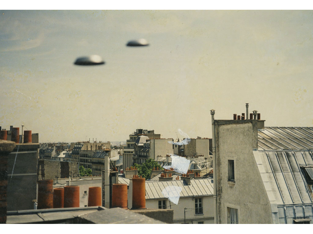 Claude Closky, 'Flying Saucers, Rue Lepic (1)', 1996, c-print, 20 x 30 cm.