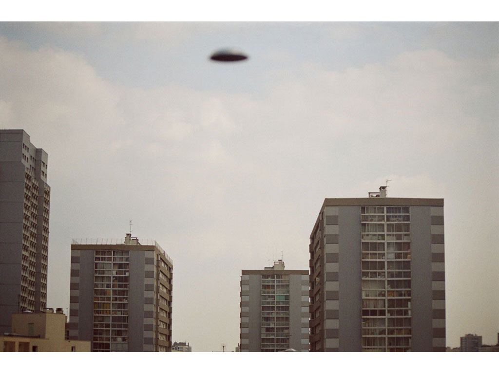 Claude Closky, 'Flying saucer, Vitry Buildings n°1', 2005, c-print, 20 x 30 cm.