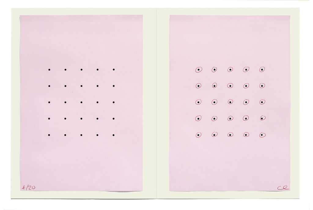 Claude Closky, 'Pink Form', 2006, artist edition, laser print and ball point pen on colored paper, 32 x 44 cm.