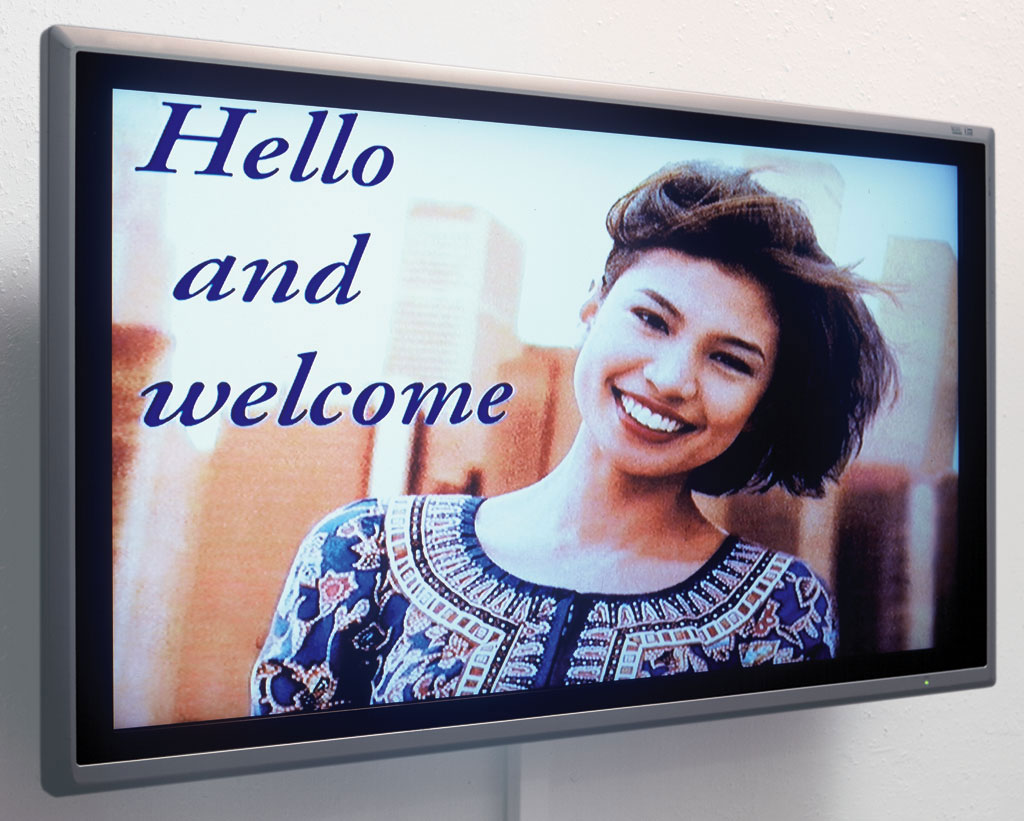 Claude Closky, 'Hello and Welcome', 2000, monitor, dvd, dvd player, silent, loop.