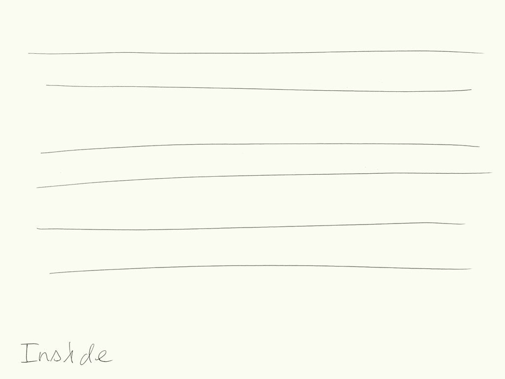 Claude Closky, 'Inside (rectangle)', 2008, black ballpoint on paper, diptyque, twice 40 x 30 cm.
