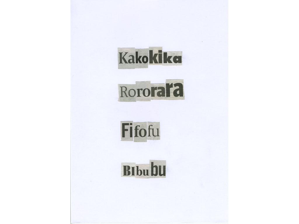 Claude Closky, 'Kakokika', 2010, collage on paper, diptyque, twice 30 x 21 cm.