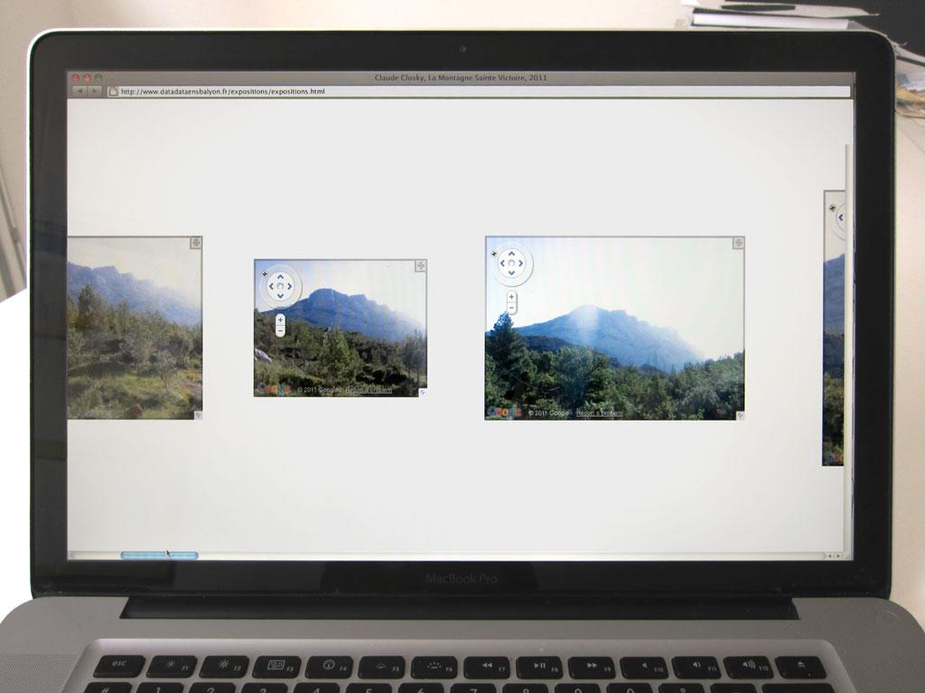 Claude Closky, 'La Montagne Sainte Victoire', 2011, web site (http://www.sittes.net/sainte-victoire/).
