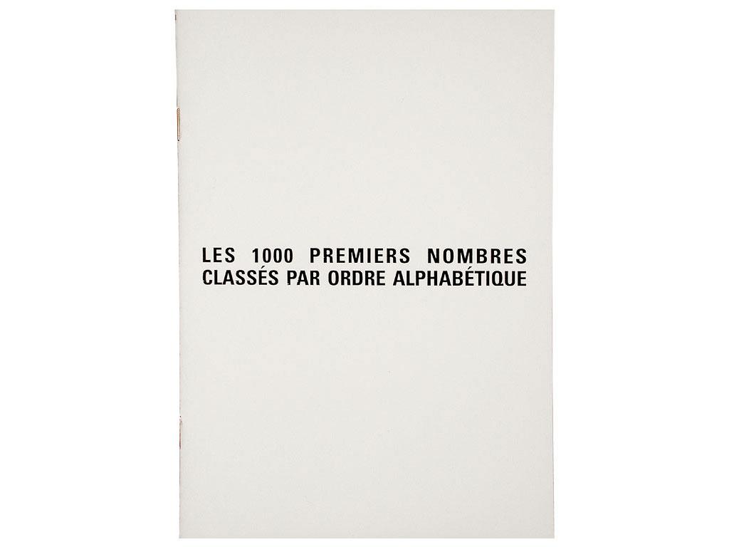 Claude Closky, 'Les 1000 premiers nombres classés par ordre alphabétique [the First Thousand Numbers Classified in Alphabetical Order]', 1989, artist's publication, b&w photocopy, 12  pages, 21 x 15 cm.