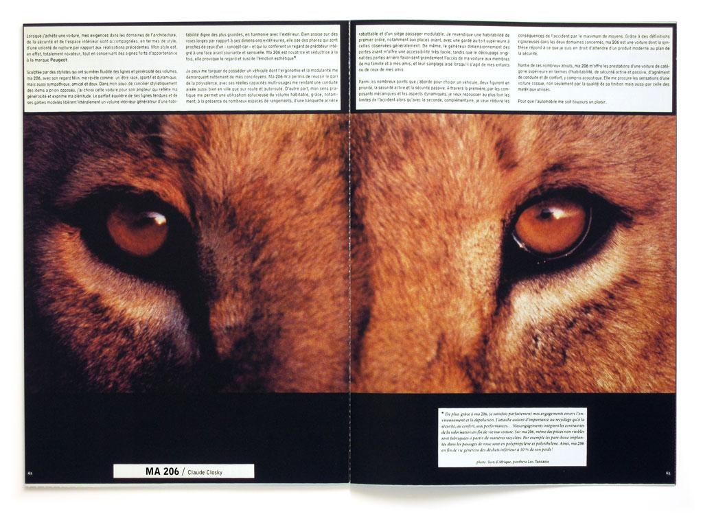 Claude Closky, 'Ma 206 [My Peugeot 206]', 1999, Paris: Mobile No. 2, pp. 62-63.