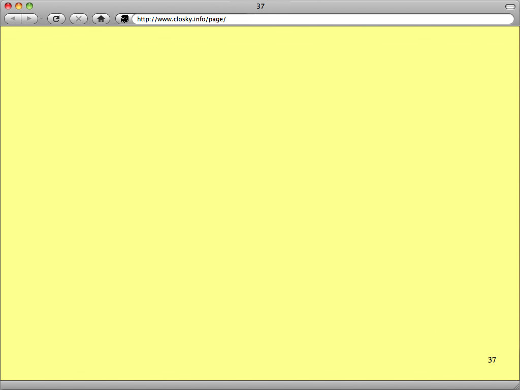 Claude Closky, 'Page 37', 2010, web site, Html (https://www.closky.info/page/).