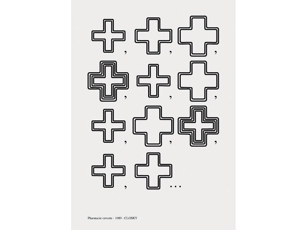 Claude Closky, Pharmacie ouverte [Open Pharmacy], 1989