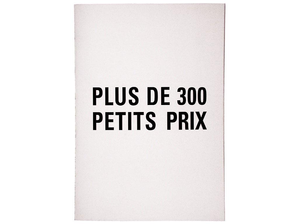 Claude Closky, 'Plus de 300 petits prix [300 budget prices]', 1990, artist's publication, b&w photocopy, 16 pages, 21 x 15 cm.