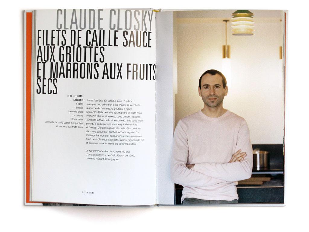 Claude Closky, 'Filet de caille', 2003, in 'En Cuisine', Paris: Seuil.