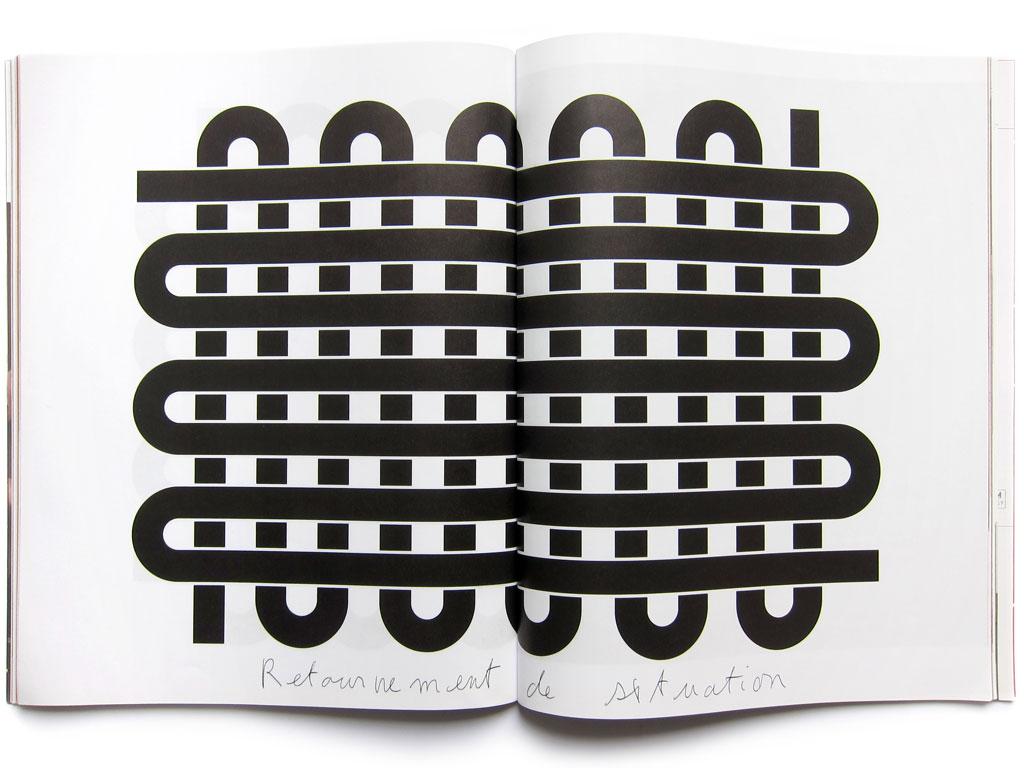 Claude Closky, 'Retournement de situation [turn of events]', 2009, July-August. Paris: Mouvement no. 52, p. 102-107.