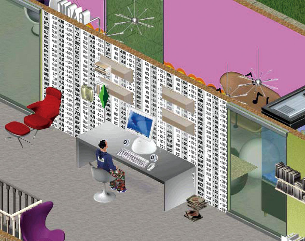 Claude Closky, 'Untitled (NASDAQ)', 2003-2004, wallpaper for the Sims, .wll file..