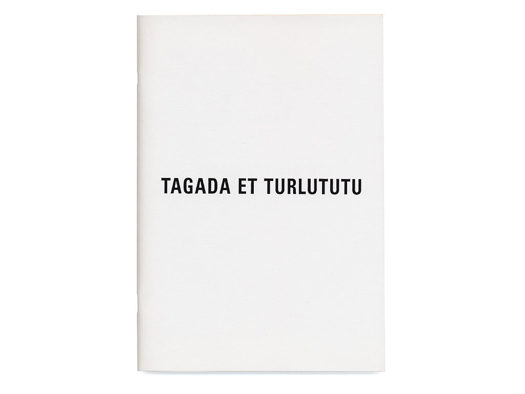 Claude Closky, 'Tagada et Turlututu', 1991, artist's publication, b&w photocopy, 102 pages, 21 x 15 cm.
