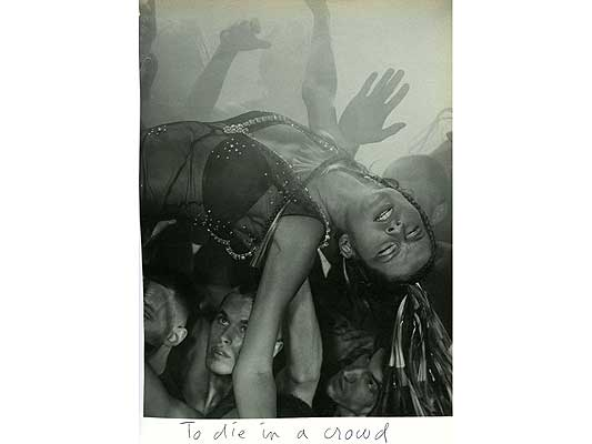 Claude Closky, 'To die in a crowd', 2009, collage and ball-point pen on paper, 30 x 21 cm.