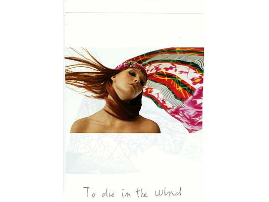 Claude Closky, 'To die in the wind', 2009, collage and ball-point pen on paper, 30 x 21 cm.