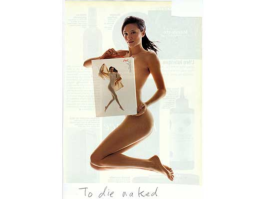 Claude Closky, 'To die naked', 2009, collage and ball-point pen on paper, 30 x 21 cm.