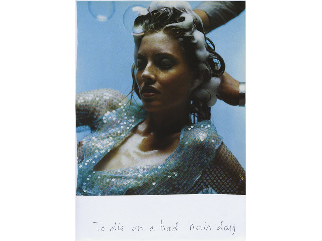 Claude Closky, 'To die on a bad hair day', 2009, collage and ball-point pen on paper, 30 x 21 cm.