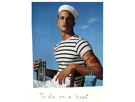 Claude Closky, 'To die on a boat', 2009, collage and ball-point pen on paper, 30 x 21 cm.