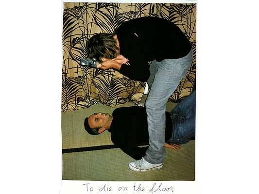 Claude Closky, 'To die on the floor', 2009, collage and ball-point pen on paper, 30 x 21 cm.