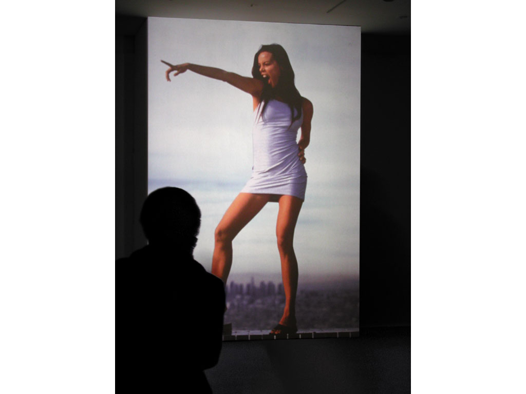 Claude Closky, 'Untitled (Top of the town)', 2000-2001, slide projection, 266 x 500 cm, loop (6 seconds per slide). Installation view 'Circuit', Macba, Barcelona. 8 November - 10 November 2001. Curated by Stéphane Carpinelli, Paula Feferbaum