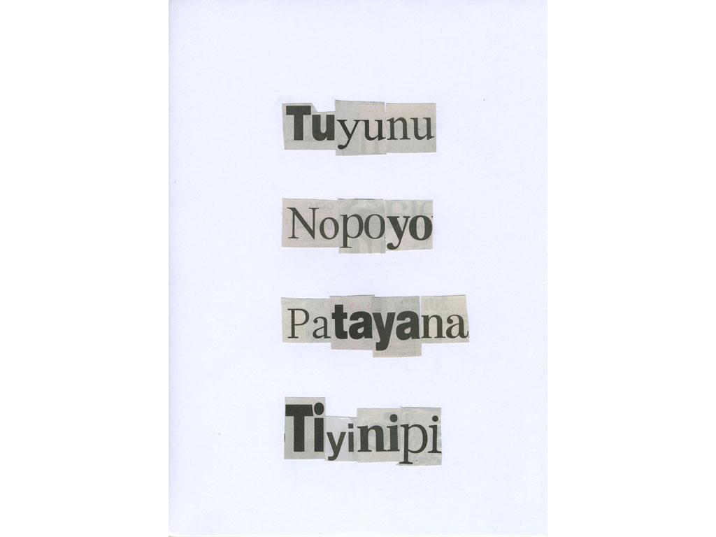 Claude Closky, 'Tuyunu', 2010, collage on paper, diptyque, twice 30 x 21 cm.
