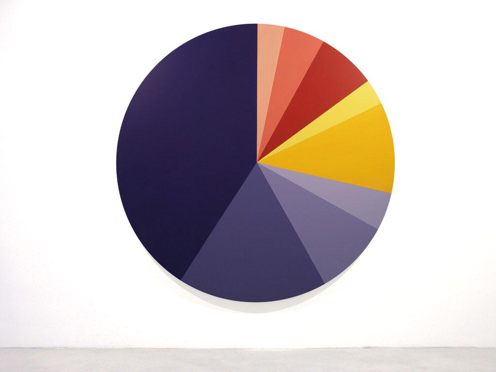 Claude Closky, 'Untitled (004396)', 2005, acrylic on canvas, ø 210 cm.
